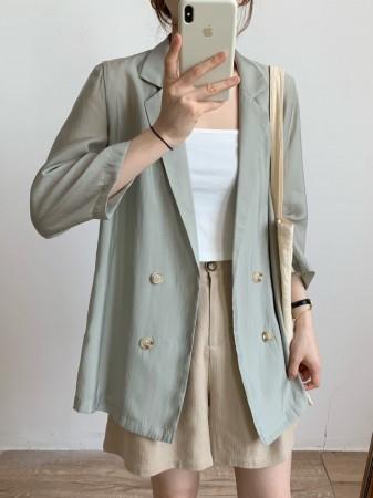 每周五收單►涼夏輕薄絲滑類西裝外套
