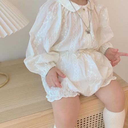 【4/23收單】小仙女の蕾絲氣質套裝短袖
