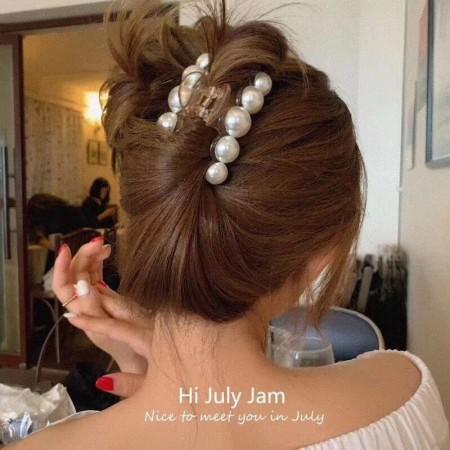 每周五收單►法式復古珍珠髮夾4件組
