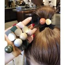 10/18收單►簡約寬版糖果色採石髮繩5入組