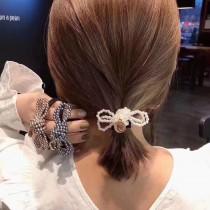 韓國蝴蝶結珍珠髮飾3入組