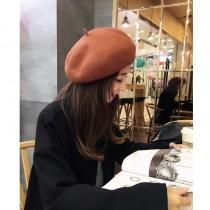 藏青現貨►日系羊毛毛呢復古貝雷帽