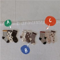 2/24收單►拼色童襪-3入組