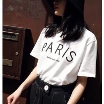 PARIS字母刺繡T