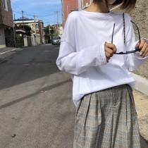 現貨 黑M*1►明線設計款寬鬆打底衫