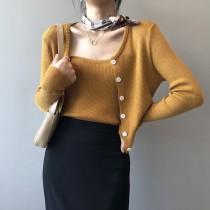 【每週五收單】修身兩件式吊帶背心開衫