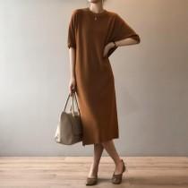 【每週五收單】2021新款 高品質中長款針織連衣裙