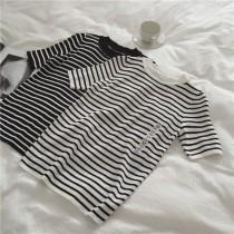 條紋顯瘦針織衫