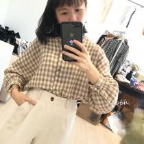 現貨*1件►韓國 格紋百搭薄款襯衫