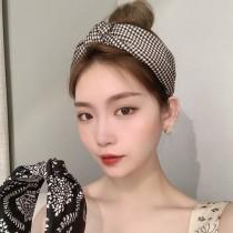 【每週五收單】千鳥格韓式寬邊髮箍