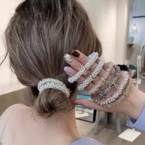 每周五收單►小清新水晶仿珍珠髮繩一組5入