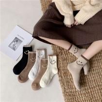 預購年後發出►日系冬款笑臉保暖厚襪一組6入